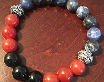Male Influence Multi Gemstone Bracelet