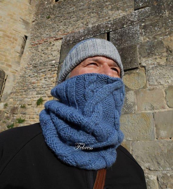 Lana alpaca Cuello para hombre bufanda accesorios invierno  a08d38b8b92
