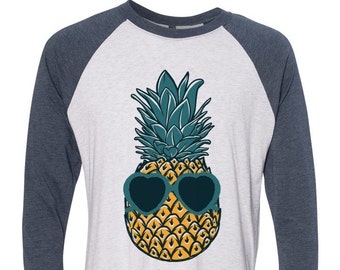 Womens PINEAPPLE SHIRT/ Pineapple Sunglasses/ Boho Clothing/ Tumblr Shirt/ Slouchy Tee