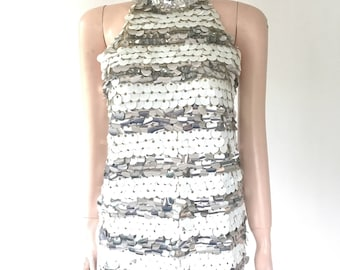 Mod Saks 5th Ave sequin go go top | size small | all wool