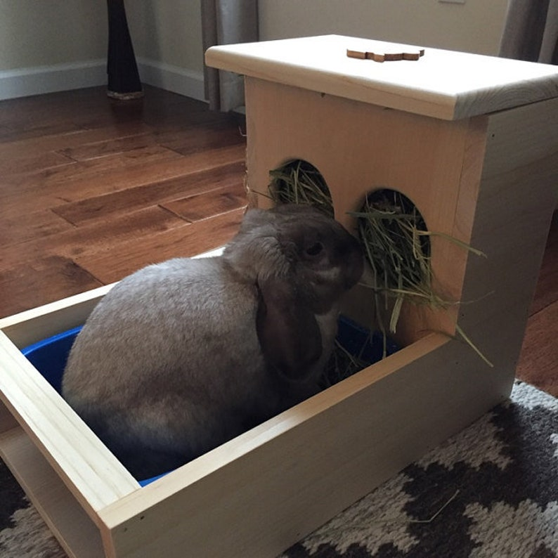Rabbit Hay Feeder With Litter Box image 0