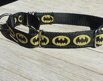 Handmade in Spain by Wakak/án Martingale Dog Collar Batman