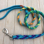 Braided Bullhide lead, The Vanessa Ombre, leather, handmade leash