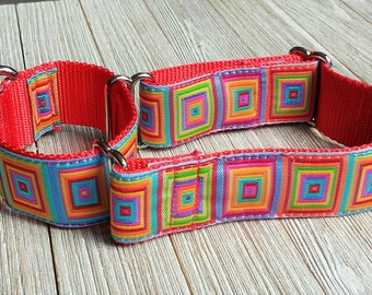 "1 1/2"" Martingale Collar, Geometric Pattern, Multicolor"