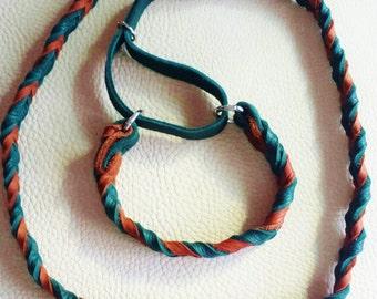 Leather Agility Slip Lead, Leash for Dog Agility,  Martingale Leash, Soft leather