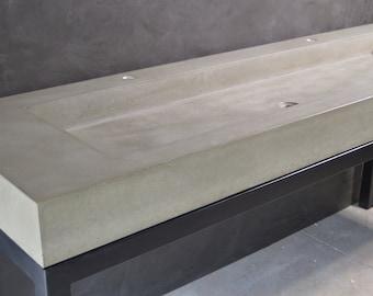 Concrete Trough Sink with Base