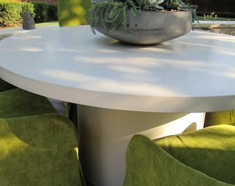 "60"" Round Concrete Table"