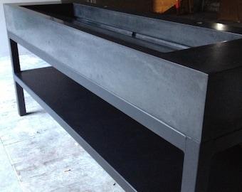 Concrete Ramp Sink on Steel Base