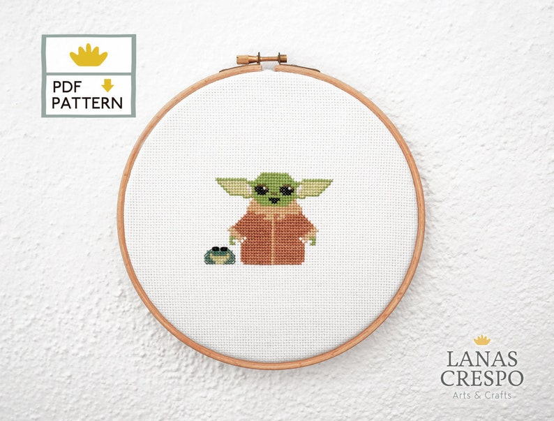 Baby Alien The Child Cross Stitch Pattern The Mandalorian image 0