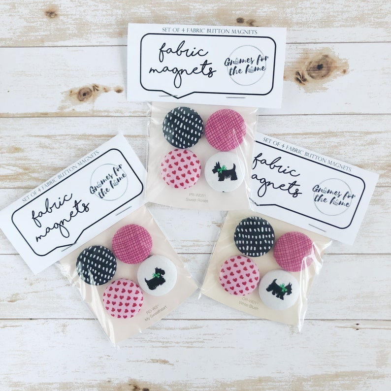 strong magnets cute magnet set of 4 birthday gift Easter magnets best friend gift fabric magnets  1 18 size Pretty in Pink