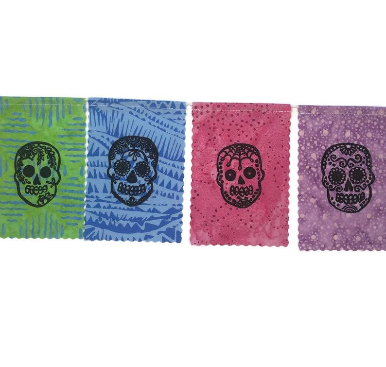 Day of the Dead Prayer Flags Dia de los Muertos Sugar Skull Flags Small Halloween