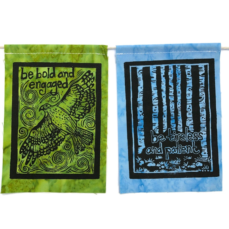 2020 prayer flags small Made with hand carved block prints May You Always