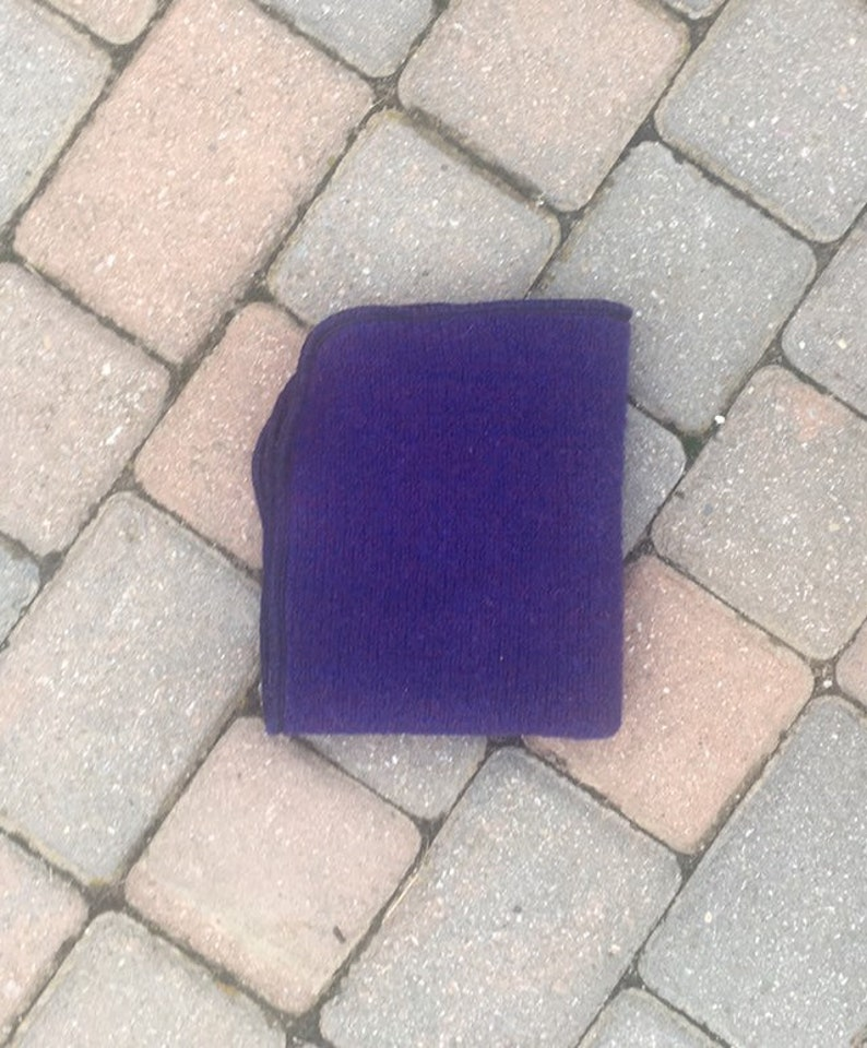 Crib Protector Measures 16 12 X 13 12 Purple Mattress Cover Upcycled Wool Change Pad