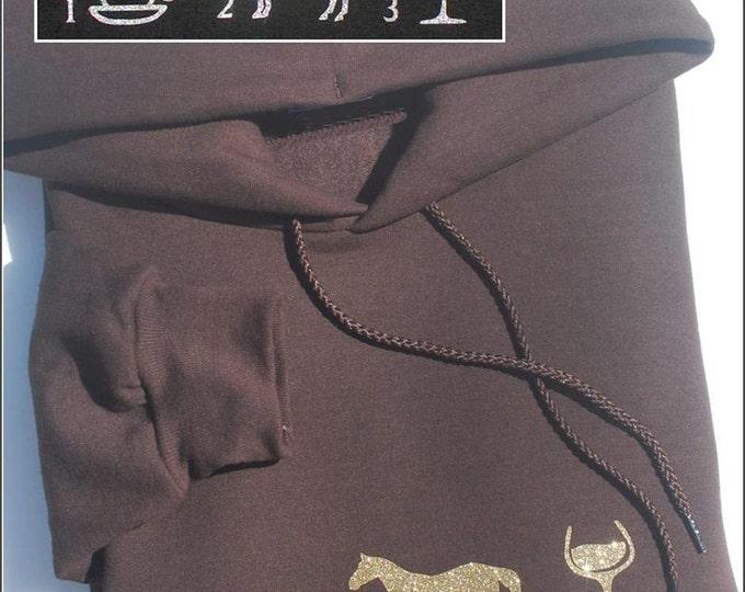 Coffee, Horses, Wine! Hoody sweatshirt