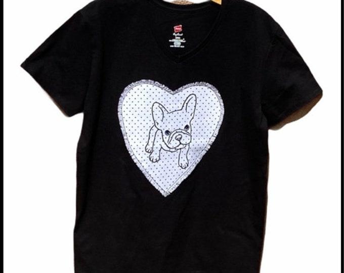 Ladies Frenchie shirt SZ L