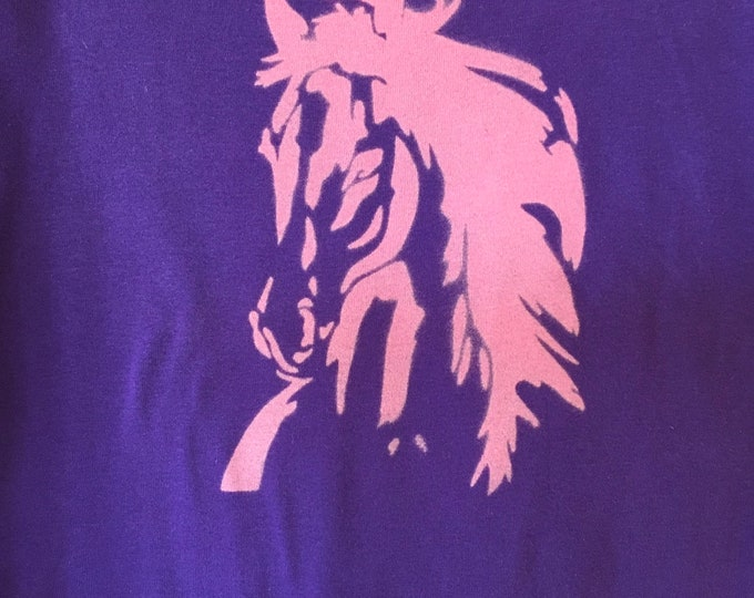 Purple beauty! Horse shirt SZ XL