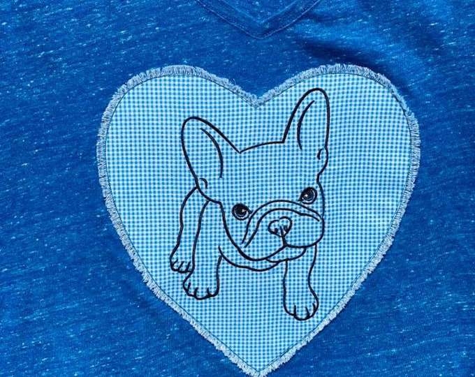 Ladies French Bulldog top sz L