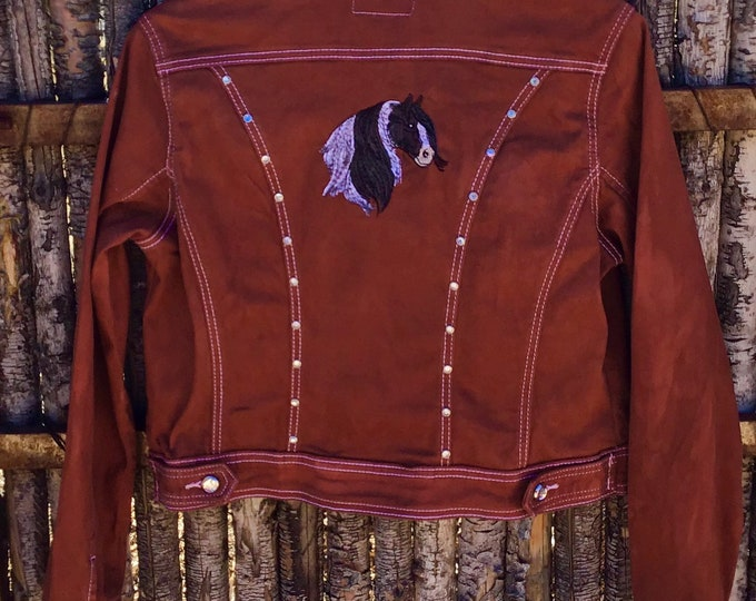 Pretty Rust Gypsy Vanner Jacket SZ L