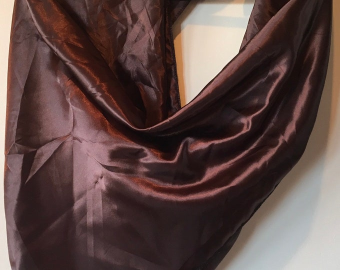 Chocolate wild rag / scarf