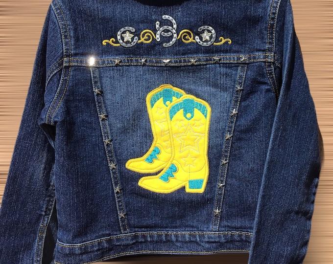 Cowboy Boots Jacket SZ S