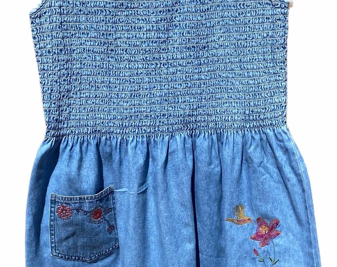 Smocked summer dress sz S