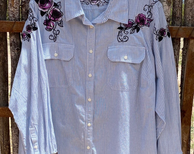 Chaps Shirt with Embroidery SZ 3X