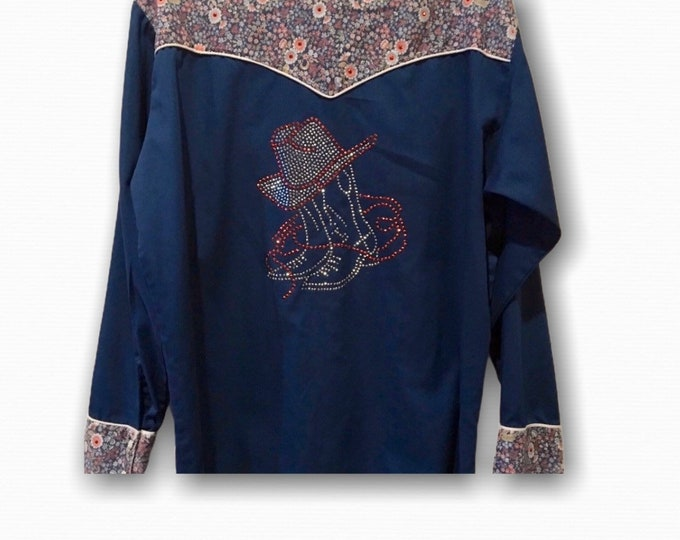Rockabilly Western Shirt SZ XL