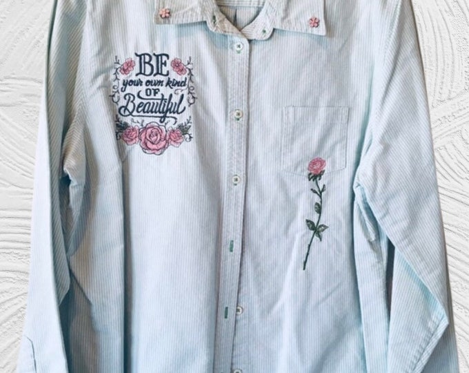 Ladies country rose blouse SZ XL