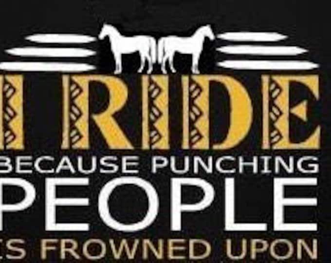 Fun conversation peice! I ride because.....