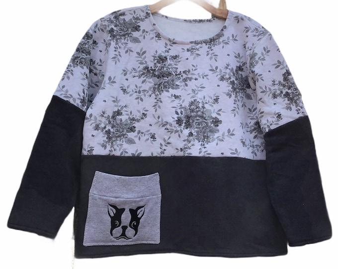 Boston Terrier sweatshirt SZ XL
