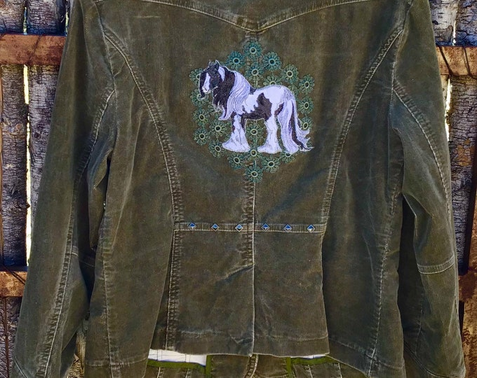 Pretty Corduroy Gypsy Jacket SZ M