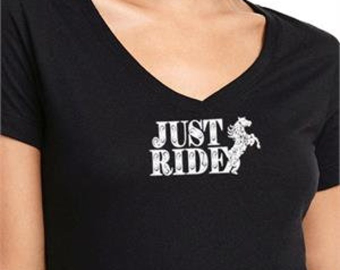 Just Ride! Horse Top V Neck