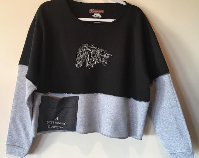 Adorable Crop Top Sweatshirt