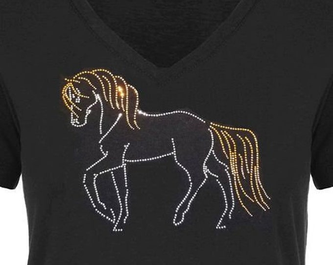 Prancing Horse Rhinestudded ladies top