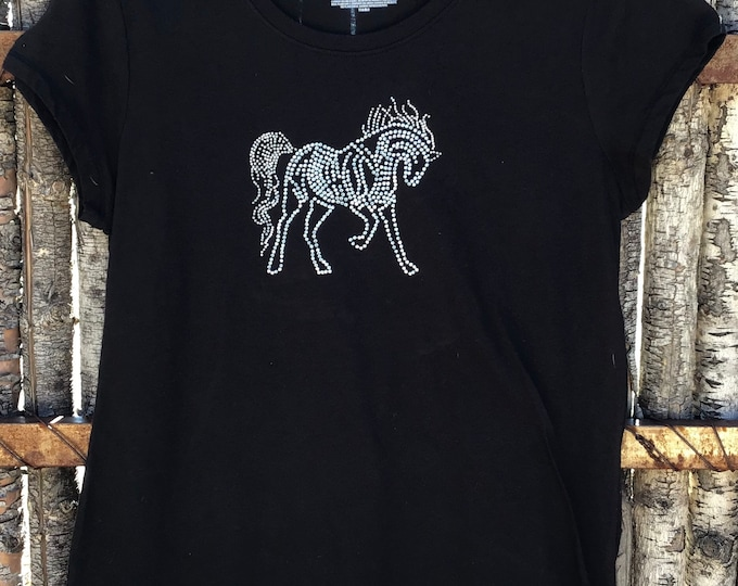 Horse Bling top SZ L