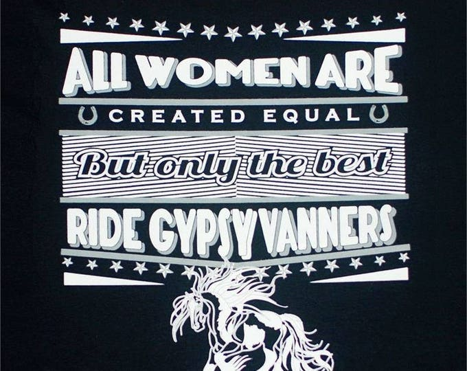 Ladies racer back tank! Gypsy Vanner!