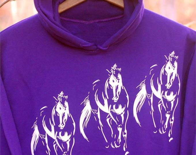 Pretty purple horse Hoody!