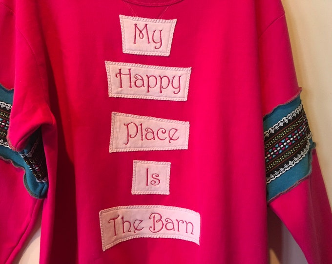 My Happy Place Is The Barn sz XL