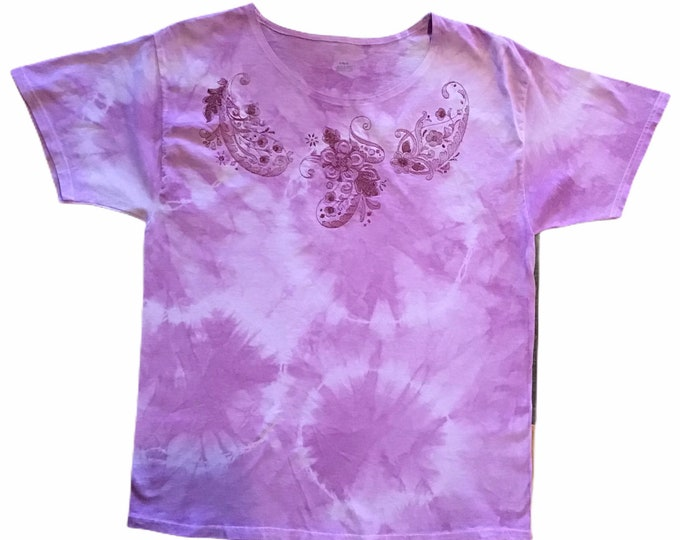 Tie die embroidered top