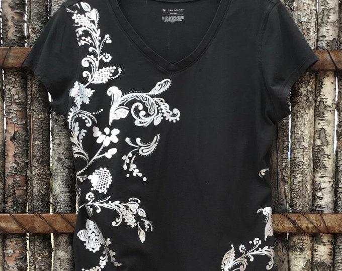 Black & Silver bling! SZ L