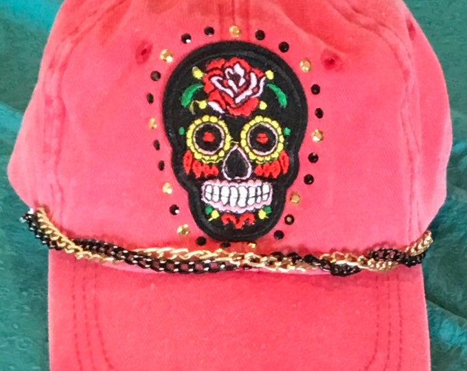 Cool sugar skull cap