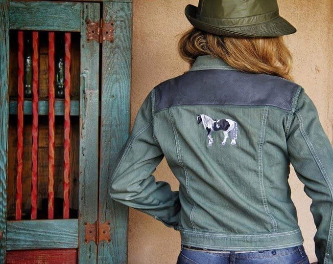 Genuine leather Gypsy Vanner jacket SZ Medium