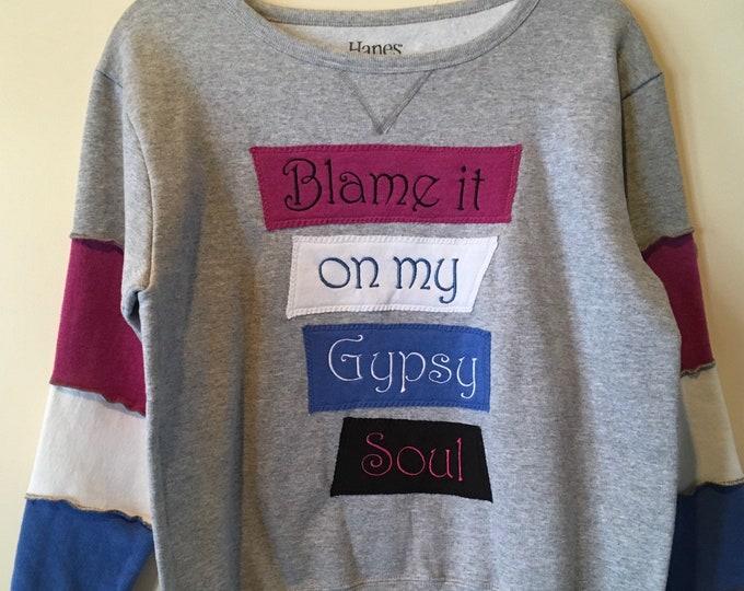 Gypsy Soul sweatshirt SZ M