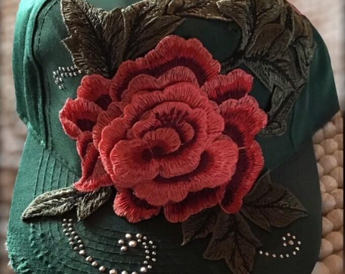Flower bling hat!