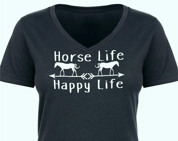 Horse Life V Neck T