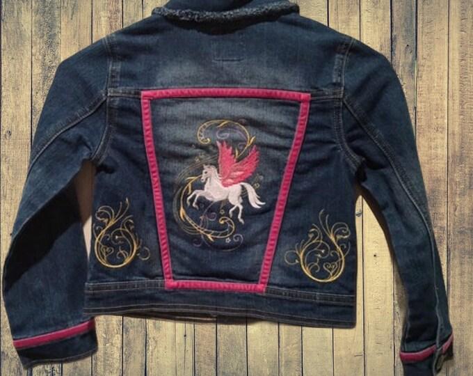 Girls size 5/6 Pegasus Jean Jacket