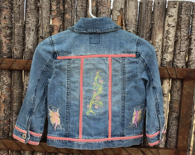 ADORABLE girls fairy Jean Jacket