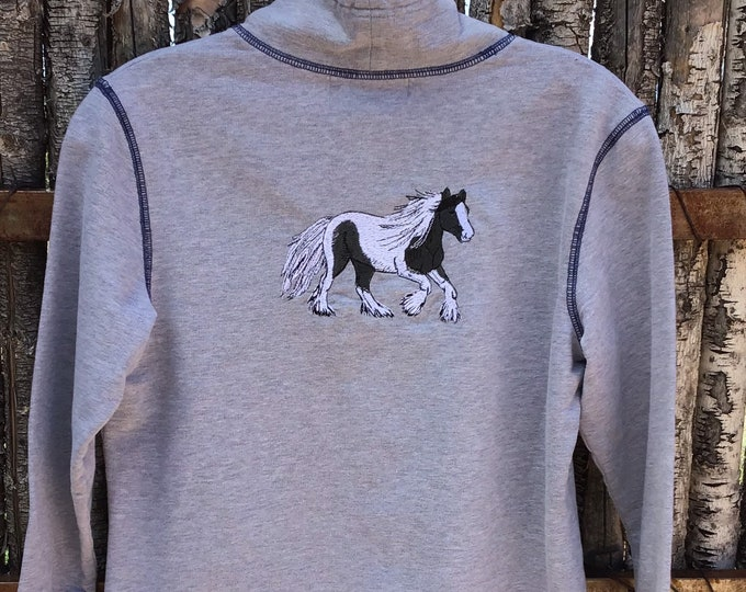 Ladies petite top, size M Gypsy Vanner!