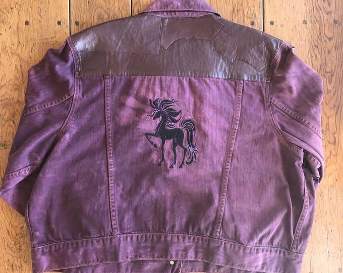 Gorgeous leather/dyed Jacket. SZ 3X