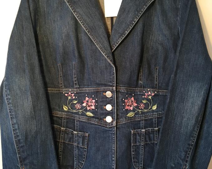 Beautiful denim blazer! SZ 14
